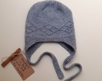 100% cashmere Baby and kid hand knit hat size from 3 months to 4 years to order