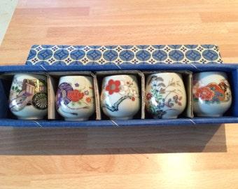 Japanese sake cups. Original box.purchased in Japan. 2000.