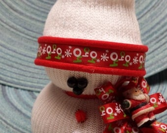 """Sock Snowman SM035 """"Ho Ho Ho"""""""