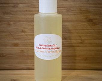 Homemade Massage Body Oil / Huile de Massage Corporelle fait-maison