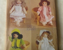 """Vogue 7419 doll collection rag doll clothes  18"""" doll sewing pattern uncut"""