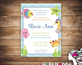 Under the Sea Baby Shower Invite