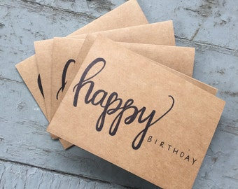 Hand-Lettered Birthday Cards *Set of Five*