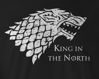 Game of Thrones Shirt, Game of Thrones White wolf Tee, Game of Thrones Stark T-Shirts, Game of Thrones T-shirts, Game of Thrones Stark Tees