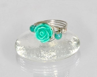Wire Wrapped Ring Princess Ring Kids Jewelry Rings for Kids Girls Rings