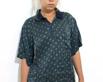 Vintage unisex silk t-shirt
