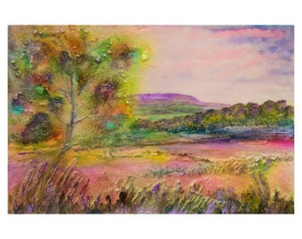 JIll Wright Art Limited Edition Print - 'Distant Pendle'