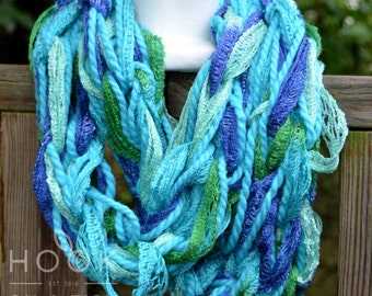 Turquoise Waters Arm Knit Scarf