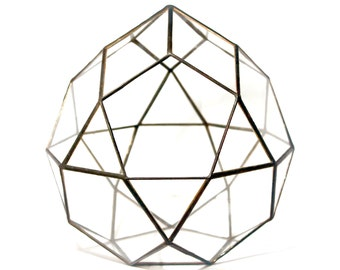 "Geometric Glass Terrarium ""Pulsar"" height=20cm"