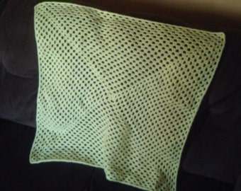 sunshine granny square throw with acrylic yarn