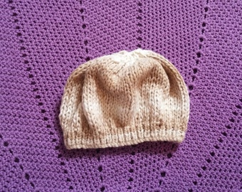 Knitted Neutral Colored Hat