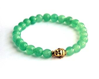 Green Aventurine Stone Buddha Bracelet