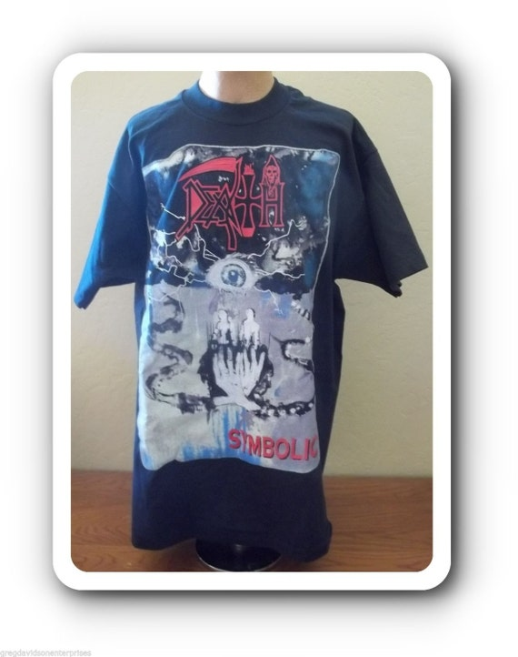 Death Symbolic 1995 World Tour T Shirt Size Large Metal To The