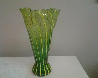 Hand Blown Venetian Art Glass Vase