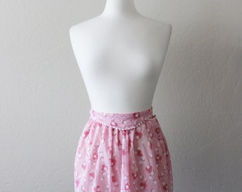 REDUCED 1950s Vintage Pink Floral Apron