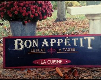 30 x 9 Bon Appetite wood sign