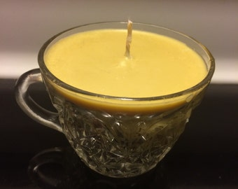 Soy Wax Candle - Scented Soy Wax - Punch Glass Candle - Container Candle -