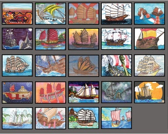 Ships of the World - FrantixMedia: ArtFrantix Collection Sketchcard Collection