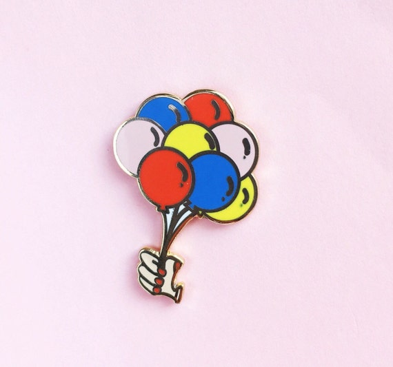 Balloons Bunch Pin- Hard Enamel Cute Balloons Lapel Pin