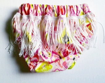 Baby/Toddler colorful fringe bloomers, diaper cover