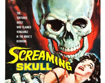 FREE SHIPPING The Screaming Skull movie poster 11x17