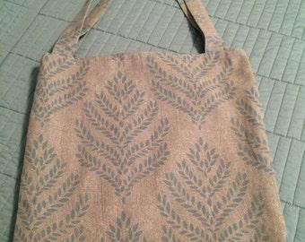 Turquoise & Khaki Tote Bag