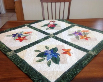 Appliqued and Quilted Wall Hanging or Table Topper