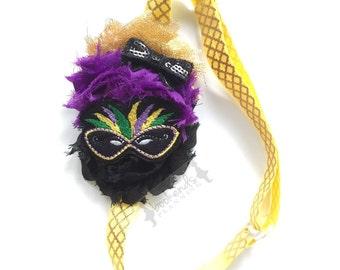 Adjustable Planner Band - Geaux Wild - Mardi Gras - Planner Band - Bookmark - Headband