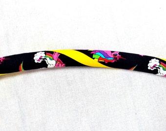 Yellow Fabric Rainbow Unicorn Collapsible Hula Hoop