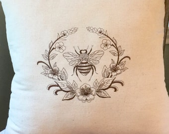 Napoleonic Bee, French Country Decor, Decorative Pillow, Louisiana Decor, Country Home Decor, Bee Decor, Accent Pillow, French Farmhouse