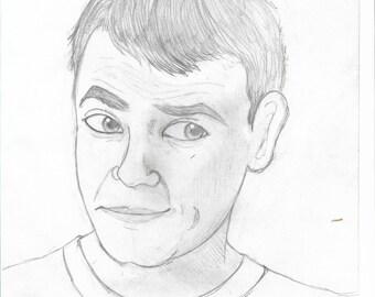 Scott Snyder Sketch Print 5 x 7