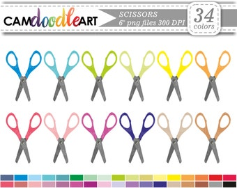 Scissors Clipart, School Clipart, Office Clipart, Scrapbooking Clipart, Planner Clipart, Sticker Clipart, png file