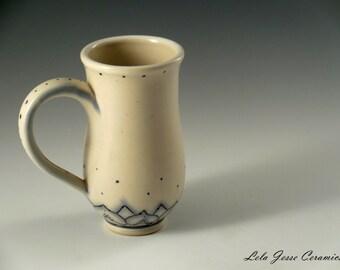 Abstract Sunflower Mug