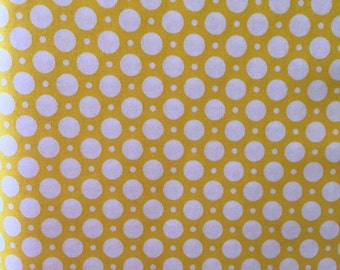 "Maywood Studios, ""LUNA"", yellow with white circles"