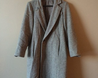 1970s Annie Hall Tweed Coat