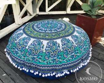 Large bohemian mandala floor cushion- COVER ONLY