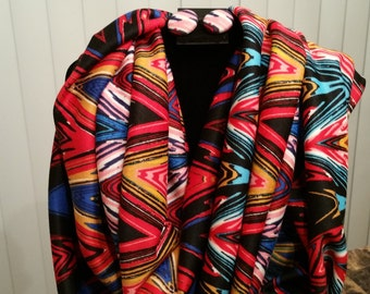 A Burst of Color Scarf & Post Earrings Set