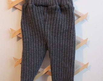 Upcycled Wool Longies heavy weight grey