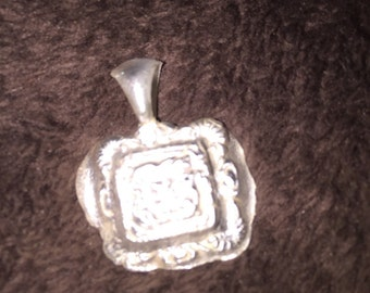 Antique charm from old cast  in sterling silver