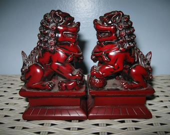 Set of Foo Dog Paperweights/Decor