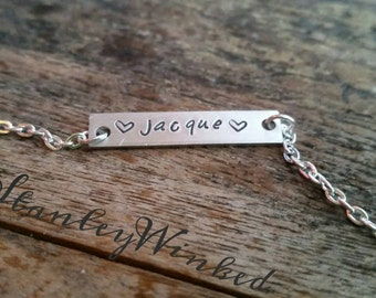 Custom, made-to-order, personalized name or initials necklace!