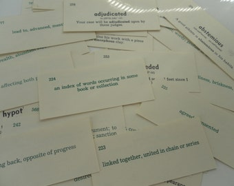 Vocabulary Word Cards Paper Ephemera (30)
