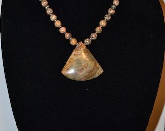 Geometric stone necklace  (#11)