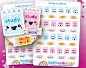 40 Cute Study/College/University/School Planner Stickers, Filofax, Erin Condren, Happy Planner,  Kawaii, Cute Sticker, UK