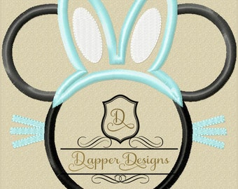 Bunny Mouse Machine Embroidery Applique Design Use Coupon Code PRINCESS for 15% Off