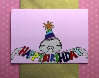 Happy Birthday from Mr Sloth card