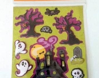 Recollections Halloween Haunted House Dimensional Sticker Sheet Scrapbook Destash
