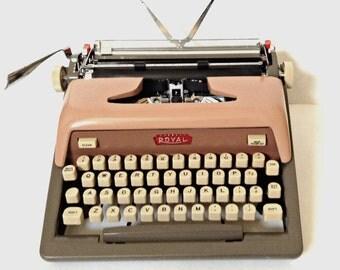 PINK! Royal Futura 800 Manual Portable Typewriter