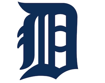 Detroit Tigers Baseball D Symbol Decal for Car/Laptop