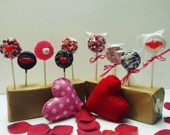 Valentine Oreo Cookie Pops